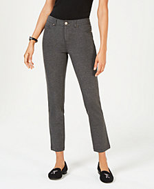Charter Club Tummy-Control 5-Pocket Ponte Pants, Created for Macy's