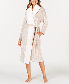 Ande Frosted Cable Cut Pile Wrap Robe