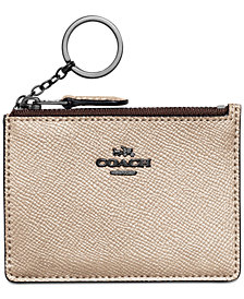 COACH Mini Skinny ID Case in Metallic Leather