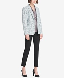 DKNY Bonded Lace Jacket, Skinny Pants & Ruched Top