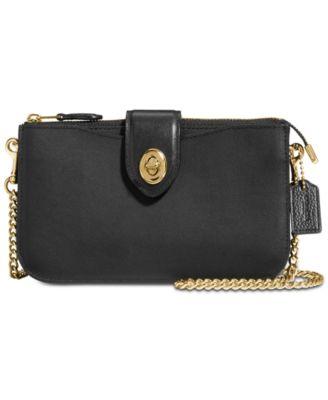 coach turnlock crossbody in refined leather handbags accessories rh macys com