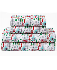 Microfiber Holiday Print Full Sheet Set