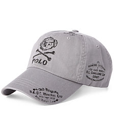 Polo Ralph Lauren Men's Bear & Crossbones  Baseball Cap