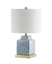 """JONATHAN Y Catherine 22"""" Ceramic,Metal Ginger Jar LED Table Lamp"""