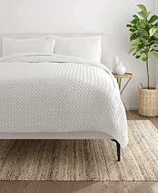 Home Collection Premium Ultra Soft Herring Pattern Quilted Coverlet Set, Twin