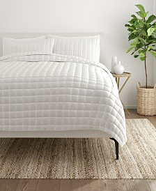 Home Collection Premium Ultra Soft Square Pattern Quilted Coverlet Set, King