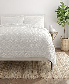 Home Collection Premium Ultra Soft Damask Pattern Quilted Coverlet Set