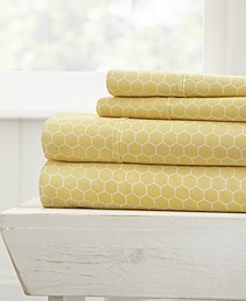 The Farmhouse Chic Premium Ultra Soft Pattern 4 Piece Sheet Set by Home Collection - King
