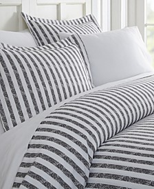 Tranquil Sleep Patterned Duvet Cover Set by The Home Collection, King/Cal King