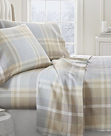 Home Collection Premium Ultra Soft Plaid 4 Piece Flannel Bed Sheet Set