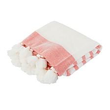 """Jenessa Stripe Tassel Knit Decorative 50"""" X 60"""""""
