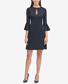 Tommy Hilfiger Bell-Sleeve Jacquard Dress