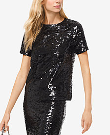 MICHAEL Michael Kors Sequined Top