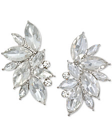 Jewel Badgley Mischka Silver-Tone Crystal Stud Earrings