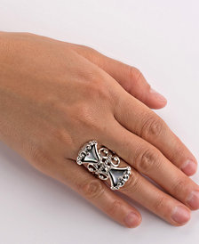 Carolyn Pollack Mother of Pearl Fan Ring in Sterling Silver