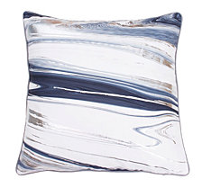 """Thro Feather Fill Kia Marble Raised Foil Pillow, 20"""" x 20"""""""