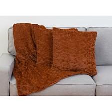 Thro Rachel Ruffle Pillows and Decorative Throw Set, Pack Of 2