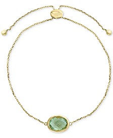 EFFY® Green Quartz  (2-3/4 ct. t.w.) Bolo Bracelet in 14k Gold