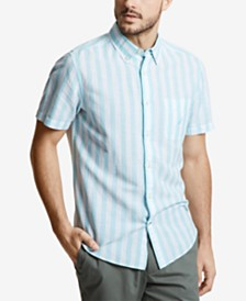 Nautica Men's Linen Vertical Stripe Shirt