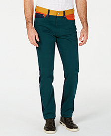 Calvin Klein Jeans Men's Colorblocked Straight Fit Jeans