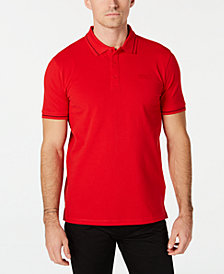 HUGO Men's Regular-Fit Contrast Tipped Polo