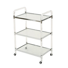 Emilie Acrylic Bar Trolley, Clear