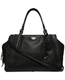 COACH Dreamer 36 Satchel in Polished Pebble Leather