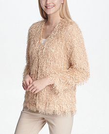 Calvin Klein Eyelash Sequin-Embellishment Jacket