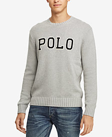 Polo Ralph Lauren Men's Big & Tall Logo Graphic Cotton Sweater