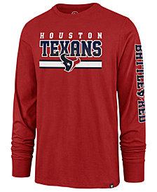 '47 Brand Men's Houston Texans Level Up Long Sleeve Super Rival T-Shirt