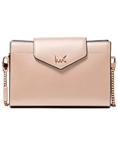 90257cc2268d MICHAEL Michael Kors Crossgrain Leather Small Crossbody Clutch