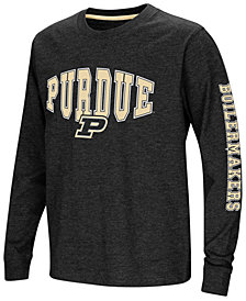 Colosseum Purdue Boilermakers Spike Long Sleeve T-Shirt, Big Boys (8-20)