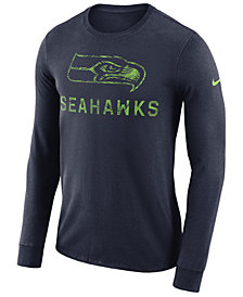 Nike Men's Seattle Seahawks Dri-FIT Cotton Seismic Long Sleeve T-Shirt