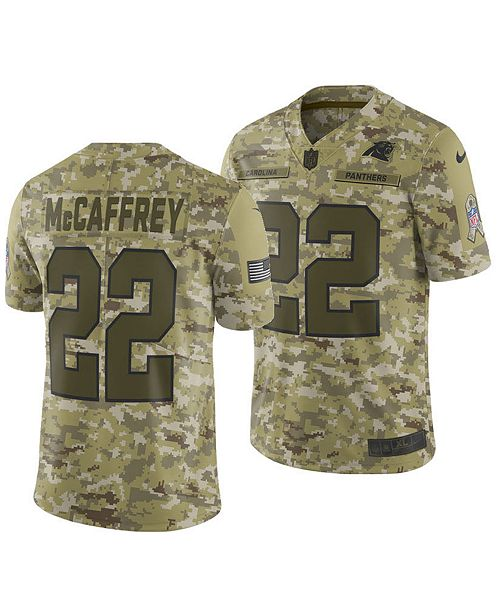 Nike Men's Christian McCaffrey Carolina Panthers Salute To Service Jersey 2018