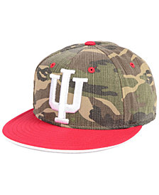adidas Indiana Hoosiers Stadium Performance Camo Fitted Cap