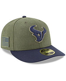 New Era Houston Texans Salute To Service Low Profile 59FIFTY Fitted Cap 2018