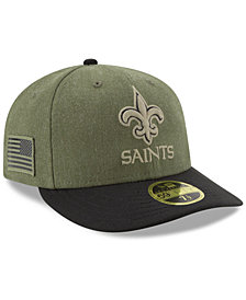 New Era New Orleans Saints Salute To Service Low Profile 59FIFTY Fitted Cap 2018