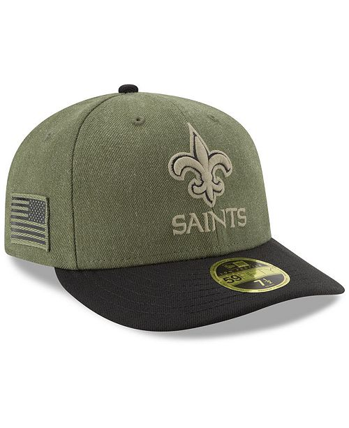 ... New Era New Orleans Saints Salute To Service Low Profile 59FIFTY Fitted  Cap 2018 ... db7b34863