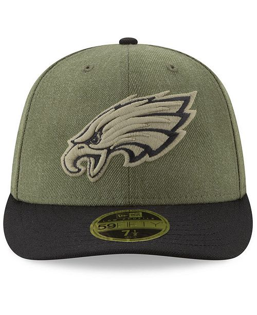 ... Philadelphia Eagles Salute To Service Low Profile 59FIFTY Fitted Cap  2018 ... 7a0e4437c81