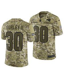 Nike Men's Todd Gurley Los Angeles Rams Salute To Service Jersey 2018