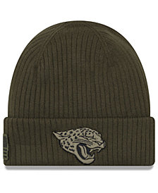 New Era Jacksonville Jaguars Salute To Service Cuff Knit Hat