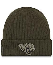 New Era Jacksonville Jaguars Salute To Service Cuff Knit Hat