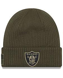 New Era Oakland Raiders Salute To Service Cuff Knit Hat