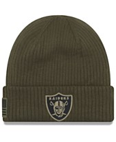 764e83540 New Era Oakland Raiders Salute To Service Cuff Knit Hat