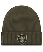 550c694996e628 New Era Oakland Raiders Salute To Service Cuff Knit Hat