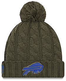 New Era Women's Buffalo Bills Salute To Service Pom Knit Hat