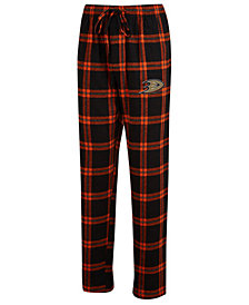 Concepts Sport Men's Anaheim Ducks Homestretch Flannel Pajama Pants