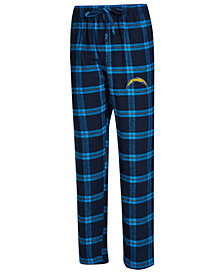 Concepts Sport Men's Los Angeles Chargers Homestretch Flannel Sleep Pants