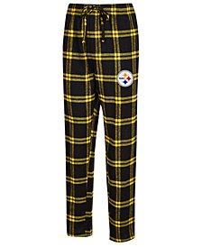 Concepts Sport Men's Pittsburgh Steelers Homestretch Flannel Sleep Pants
