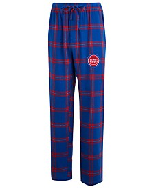 Concepts Sport Men's Detroit Pistons Homestretch Flannel Sleep Pants